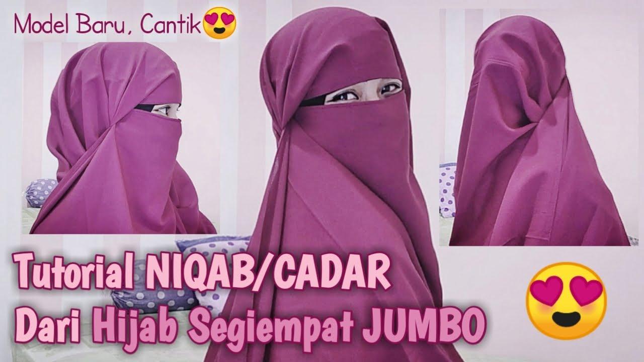 Tutorial Membuat Niqab Cadar Dari Hijab Segiempat Ukuran Jumbo Cantik Youtube