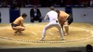 Неравный бой сумо худой против толстого
