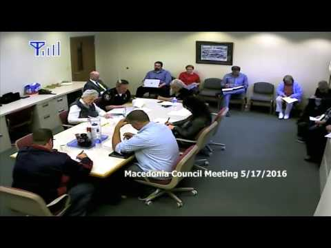 Macedonia Five Year Capital Finance Meeting 5-18-16