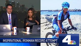 Inspirational Ironman Record attempt by Shangrila Rendon | NBC Los Angeles News