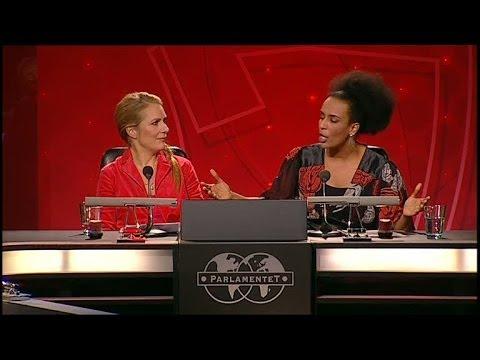 Marika Carlsson rasar mot Ryan air - Parlamentet (TV4)