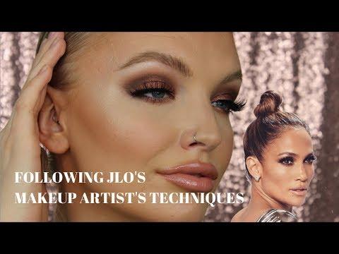 TRYING JLO'S MAKEUP ARTISTS TECHNIQUES | SCOTT BARNES X TATI | ELOISE MAE MA