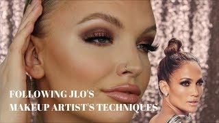 TRYING JLO'S MAKEUP ARTISTS TECHNIQUES | SCOTT