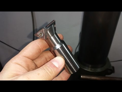 Homemade Dovetail Milling Cutter with 2 carbide inserts