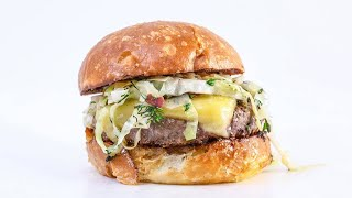 How To Make Irish Burgers with Cheddar and Warm Bacon Slaw By Rachael