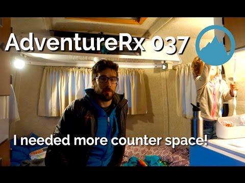 AdventureRx 037 Scamp Trailer counter expansion hack | My new insulin update