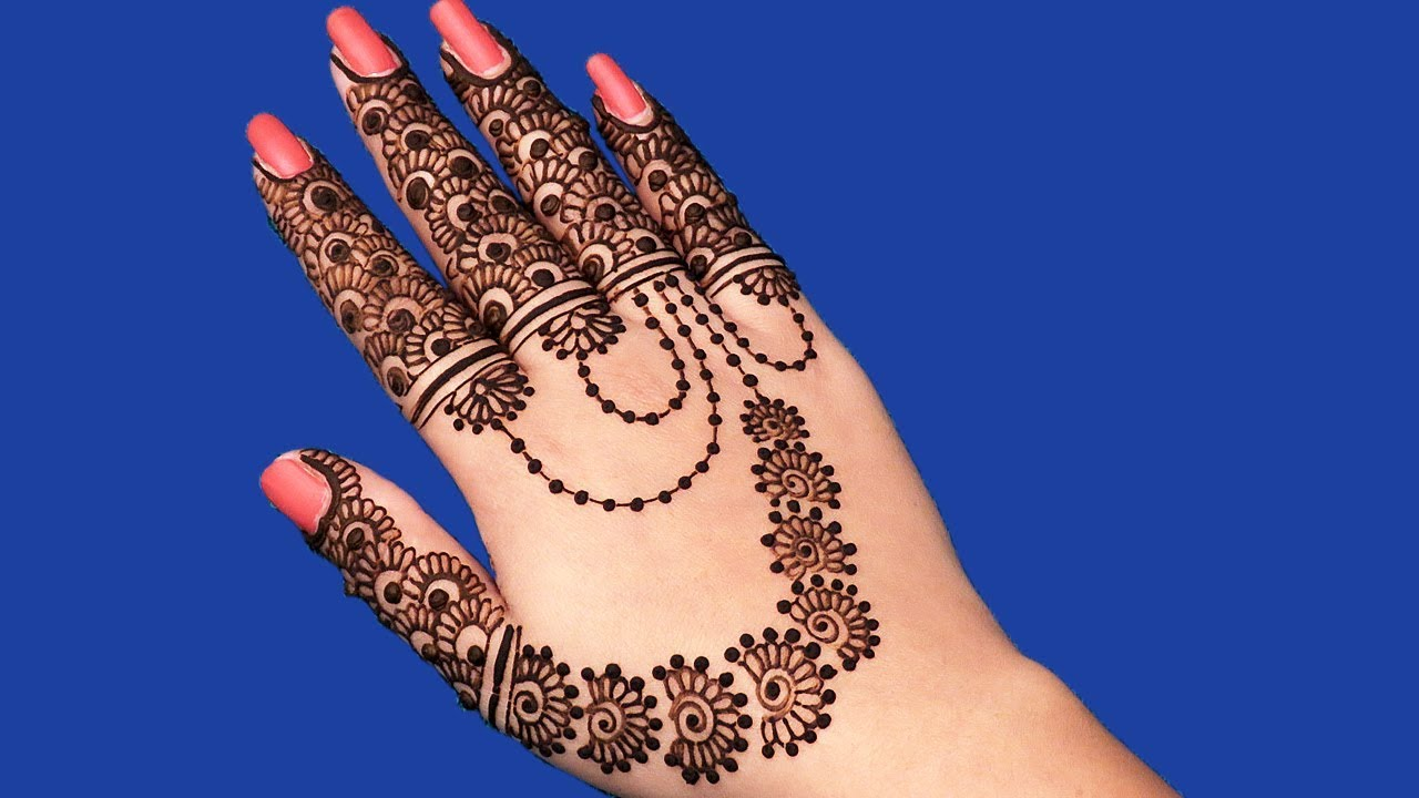 Karva chauth special mehndi design for hands jewellery for New design pic