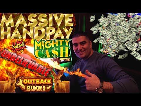 My Biggest Handpay Jackpot On Mighty Cash OUTBACK BACKS Slot Machine- Unbelievable JACKPOT !