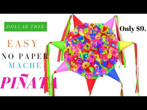 EASY No Paper Mache DIY Piñata | Dollar Tree Party Decorations