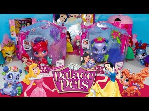 Palace Pets Princesas Disney Treasure Blossom Bonecos Surpresas Aurora Mulan Branca Neve Portugues