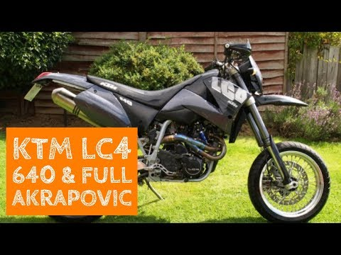 ktm lc4 640 with akrapovic system - youtube