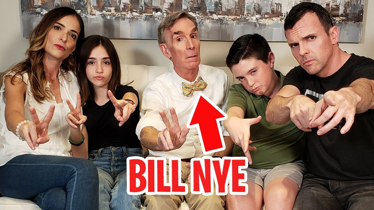 BILL NYE CAME TO OUR HOUSE!! (Surprised us with a Nintendo Labo: Vehicle Kit)