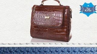 Женская лаковая деловая сумка ETERNO коричневая. Купить в Украине. Обзор