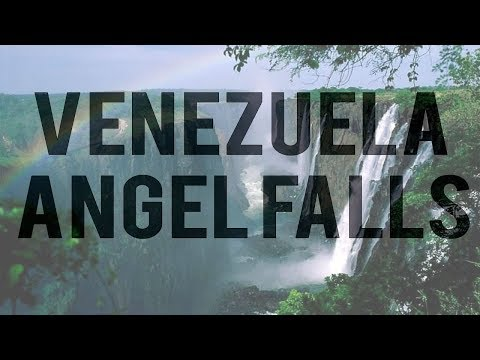 360°, Angel Falls, Venezuela. Aerial video High Angle View Of Waterfalls