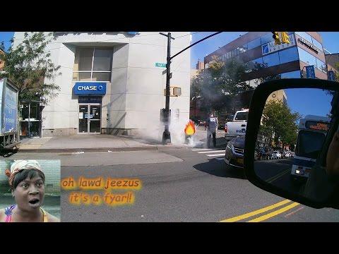Blazing Trash In Flushing Queens (Dash Cam Video)