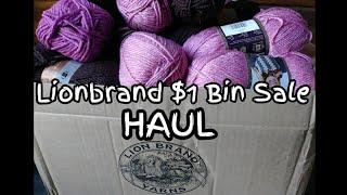 Lion brand $1 Bin Sale - Yarn Haul