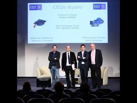 ESCP Europe CEOs Studio with Christophe Thoral CEO of Lagardère Studio