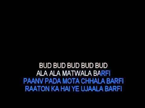 Ala Barfi Karaoke Barfi Hindi Karaoke