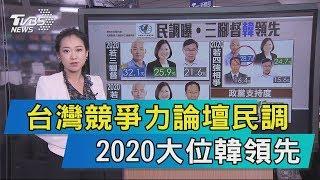 【說政治】台灣競爭力論壇民調 2020大位韓領先
