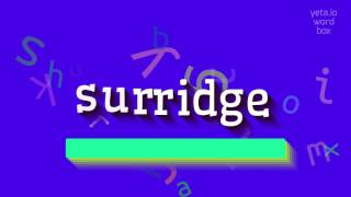 How to say surridge High Quality Voices