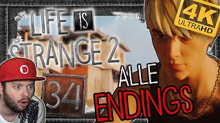 REAKTION auf ALLE 7 ENDINGS 🐺 LIFE IS STRANGE 2 #34 [ENDE]