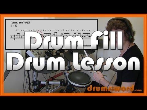 ★ Digital Bath (Deftones) ★ Drum Lesson   How To Play Drum Fill (Abe Cunningham)
