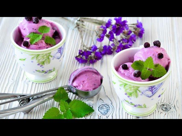 Изображение Мороженое с черной смородиной ☆ Яркий вкус и удивительный цвет