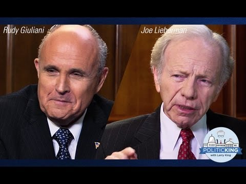 Rudy Giuliani and Joseph Lieberman | Politicking with Larry King - Ora TV