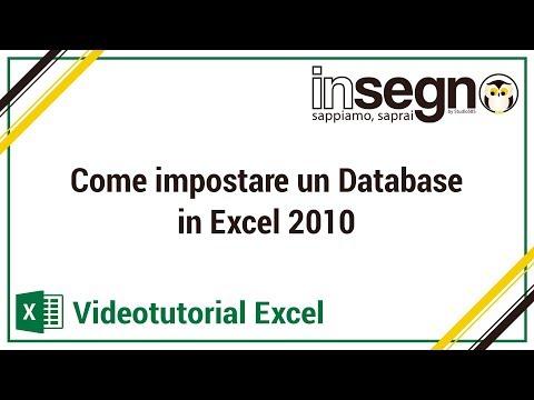 Excel lezione 1 - Come impostare un database in Excel 2010