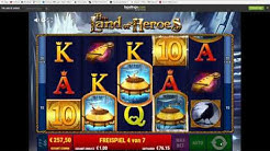 The Land of Heroes - Online Slot Bally Wulff - MEGA BIG WIN