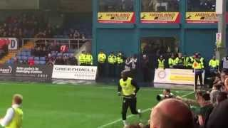 Celtic Fans signing the Carlton Cole song Vs Ross County