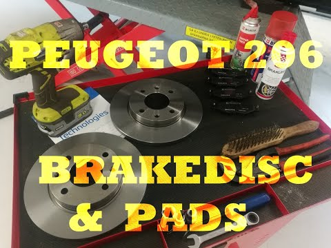 Peugeot 206+ – Front brake discs rotors and pads replacement [HOW TO]