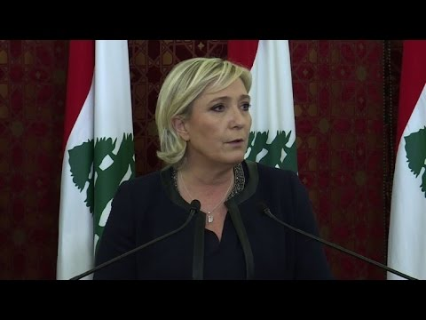 National Front's Marine Le Pen meets with Lebanese leaders