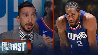 Kawhi is feeling the pressure, LeBron is best closer in NBA - Nick Wright | NBA | FIRST THINGS FIRST