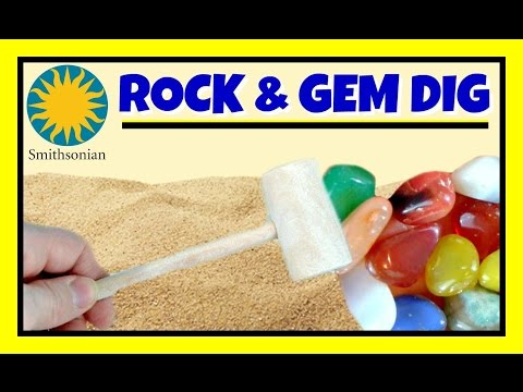 Gem Mining For Kids!  Smithsonian ROCK and GEM DIG!  FUN LEARNING About Gemstones & Rocks