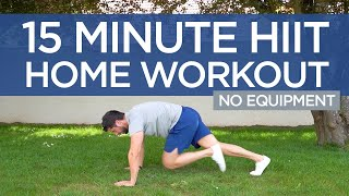 15 Minute HIIT Full Body Intense 🔥 | Home Workout | No equipment