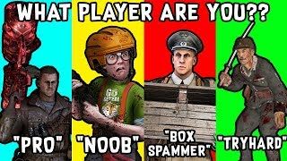 10 TYPES of Zombie Players in COD Zombies ~ Black Ops 3 Zombies, BO1, BO2, WAW Zombies