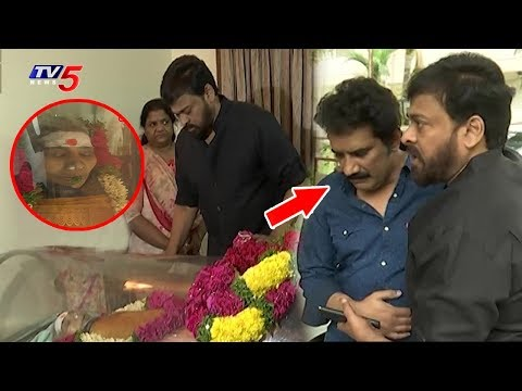 Chiranjeevi Condolences to Rao Ramesh on his Mother's Death | TV5 News