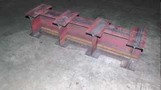 estructura de vigas de acero ipe   cmm laser