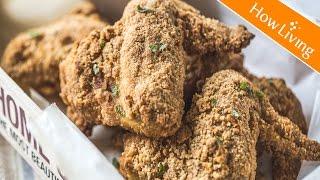 【氣炸鍋料理】用玉米脆片做炸雞-免油炸烤箱食譜 Cereal Baked Chicken Wings│HowLiving美味生活