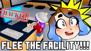 HACK THE COMPUTER & FLEE THE FACILITY IN ROBLOX! | RADIOJH GAMES
