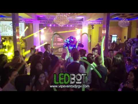 LED BOT SHOW by VIP events DJ @ Marbel event center RGV 2016 Book us 956 322 0223