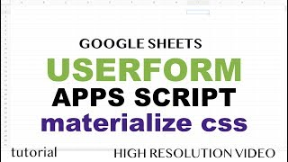 Google Sheets - Userform