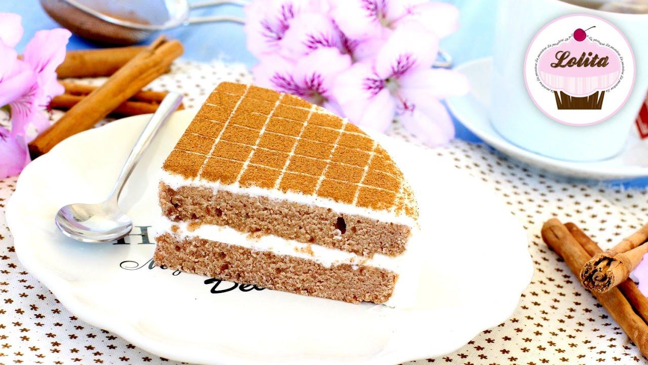 Receta de tarta de canela | Receta de Layer cake | Tarta fácil y rápida