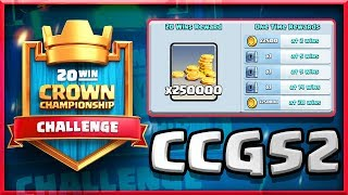 NEW 20 WIN Challenge!! • 250,000 GOLD On The Line • Clash Royale