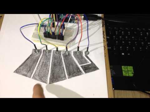 [Toy] Paper drums (Arduino, Max/MSP)