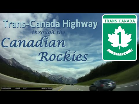 Time Lapse: Kelowna, British Columbia through the Canadian Rockies to Calgary, Alberta
