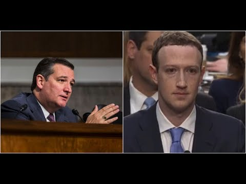 Senator Ted Cruz SLAMS Facebook CEO Mark Zuckerberg for CENSORING Conservatives