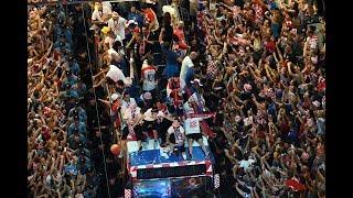 Multitudinario recibimiento a la selección de Croacia