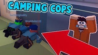 KID GOES CRAZY OVER CAMPING COPS IN JAILBREAK?! (Roblox Jailbreak)